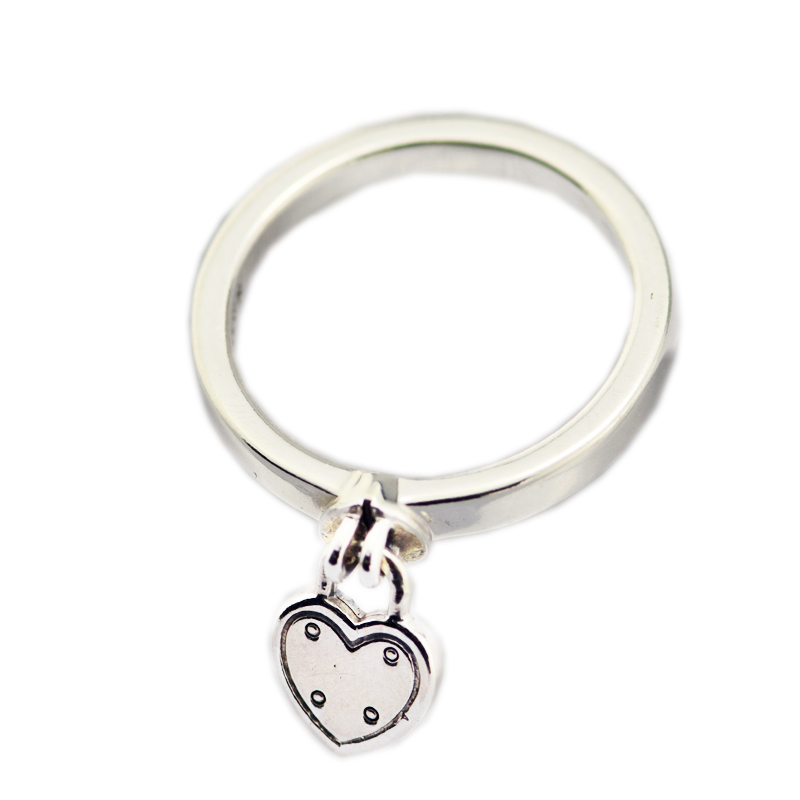 Valentine's Day Love Rock Ring 925 Sterling-Silver-Rings DIY Fashion European Jewelry For Women Wholesale Woman Gift Rings