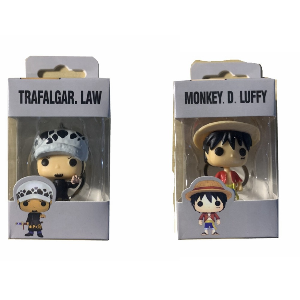 POP One Piece & LUFFY TRAFALGAR.LAW Pocket POP Keychain Action Figure Collection Toys For Children Gift With Retail Box