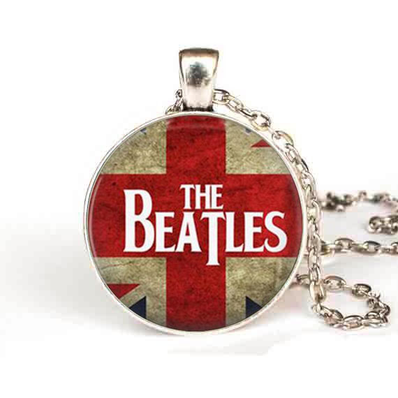 the beatles Pendant Necklace classical music chain Jewelry women men gift vintage antique charm necklaces vintage uk flag dr who