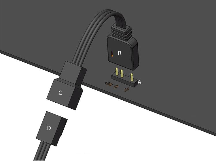Купить с кэшбэком Barrow 5V RGB Motherboard lamp control expansion adapter cables / 3Pin header