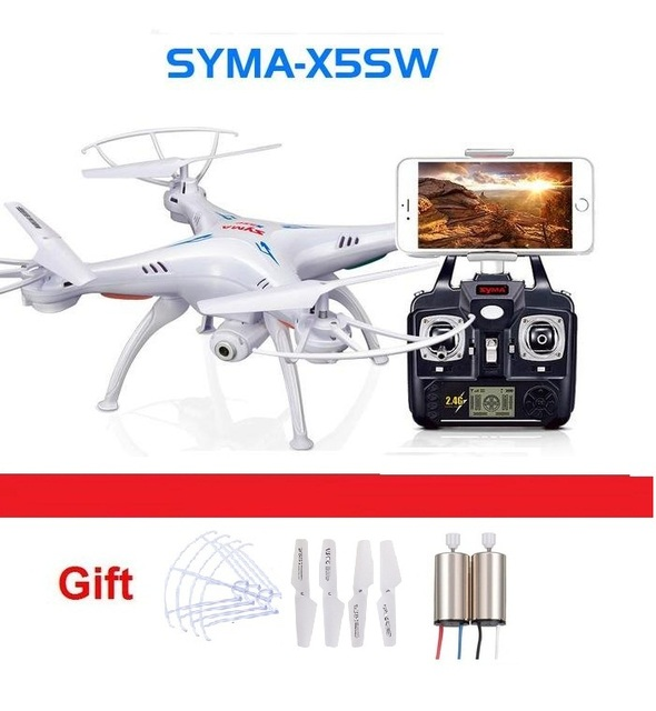 newest RC Drone SYMA X5SW 4CH 2.4G FPV with 2.0MP HD camera WiFi RC Quadcopter 6-Axis syma x5c upgraded version gift