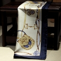 Европейский стиль синий седло шелк шелк mulberry креп атлас компактный мочалку корейский версия компактный шелк шарф