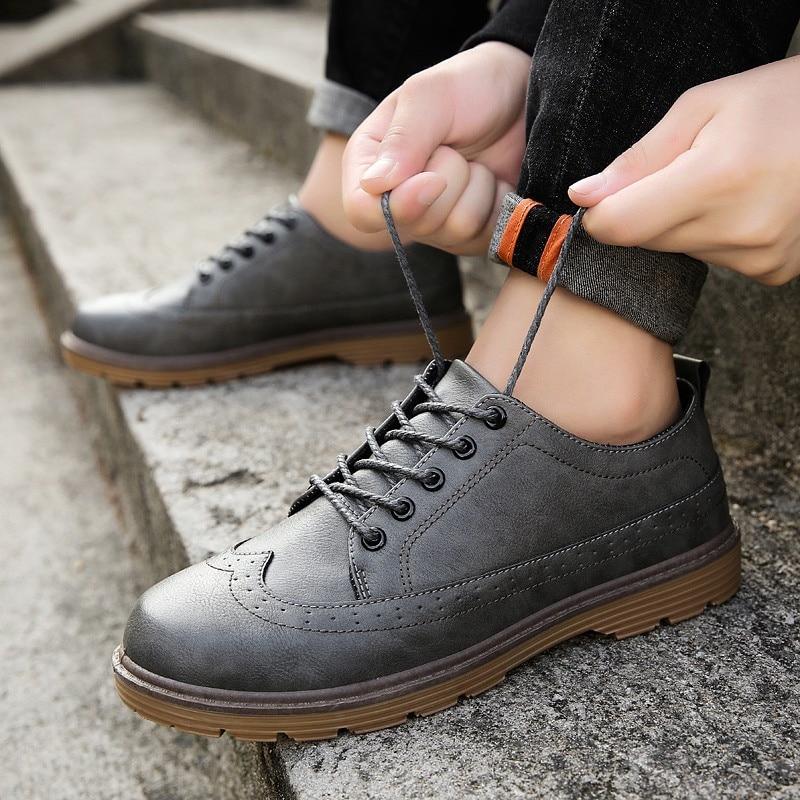 Sapatos Preto Mpx8116162 Couro De Alta Marca Primavera Homens cinza Qualidade marrom Casuais Confortáveis aq5Hzwv