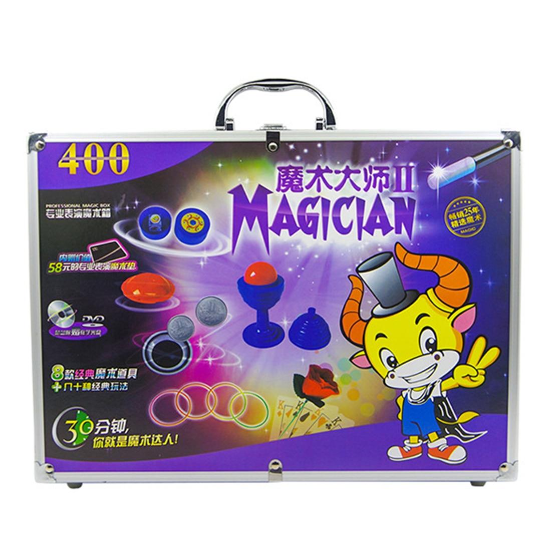 Jouet éducatif chaud de boîte-cadeau magique d'alliage d'aluminium réglé avec divers accessoires boîte-cadeau de jouet magique de gros plan des enfants pour des enfants - 3