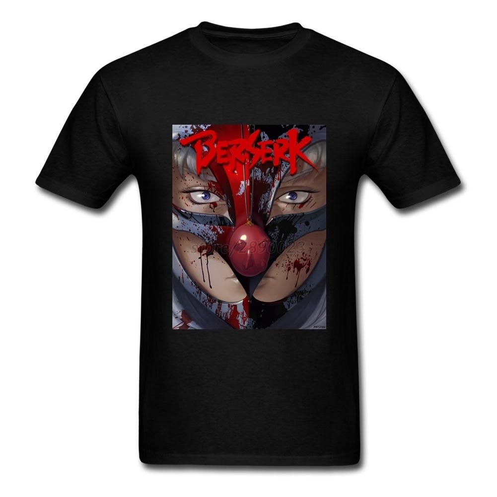 T shirt japanese design - Men T Shirt Top Designing Custom Cotton Short Sleeve Tshirt Man Berserk Japanese Comics Teenage Summer Tees