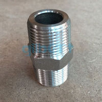 2 NPT Male 304 Stainless Steel Hex Nipple Forged Pipe Fitting Water Gas Oil 3000 PSI