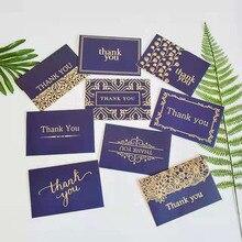 цена 9PC/set Golden greeting card For Teacher's Day Christmas Wedding invitations Ceremony postcards gift Thank you Card and envelope онлайн в 2017 году