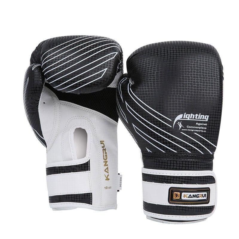 8 oz 10 oz Muay Thai Gants MMA Sanda Arts Martiaux Lutte Gant De Boxe Pour Enfants Adulte Combat Anti- porter PU En Cuir Luva Boxeo