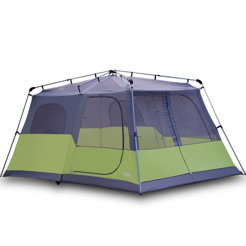 Landwolf deux chambres tente automatique 4-5-8 personnes double couche anti-pluie plage multijoueur tente de camping en plein air avec grand espace