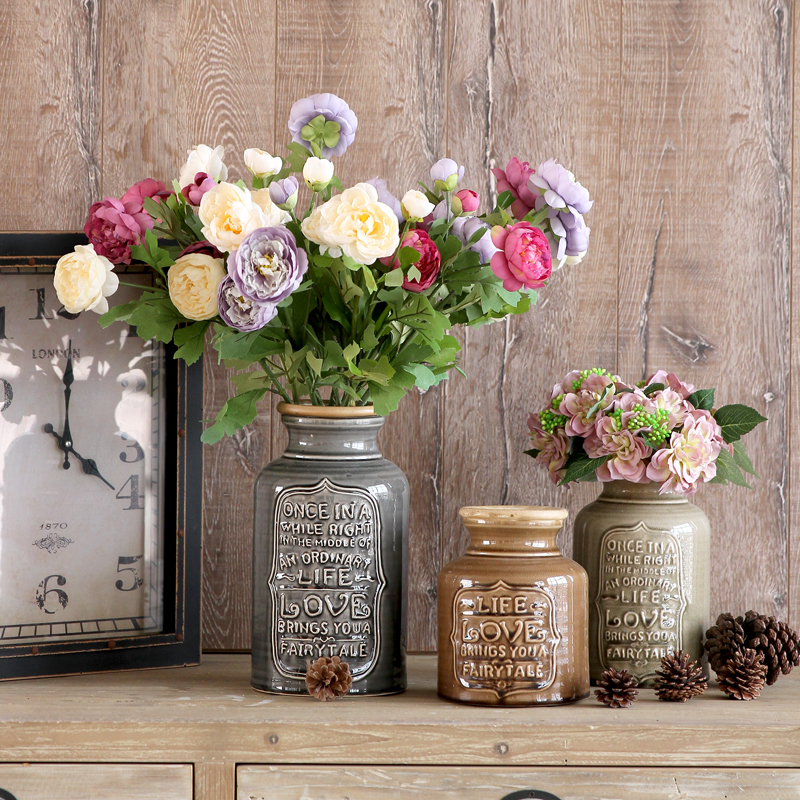Buy pastoral style decorative display for Decoration avec des roses