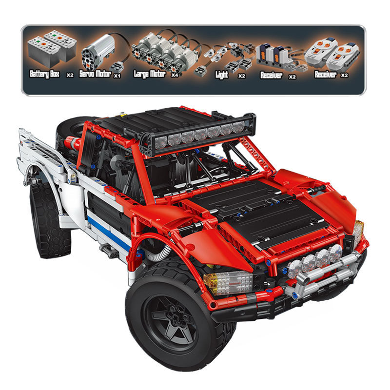 2314pcs diy playmobil Genuine Technic MOC Series SUV Car Pickup truck bricks model building kits blocks toys for boys Christmas