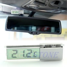 E74  Suction Cup Digital Thermometer Mount On Car Windshield Or Rear View Mirror