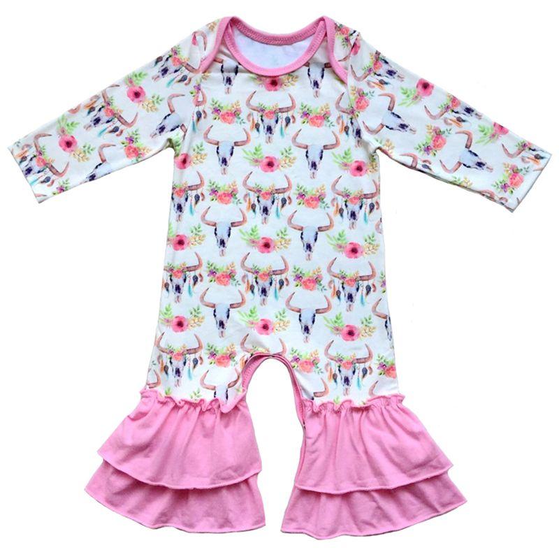 3b617db15 Dropwow Boutique newborn baby clothes floral printed animals leopard ...