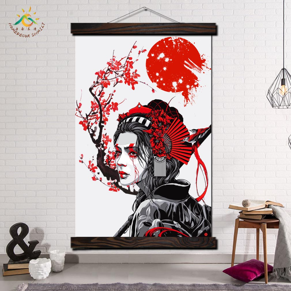 """CANVAS PICTURE RED GREY FLORAL RETRO ARTWORK 20/""""x20/"""""""