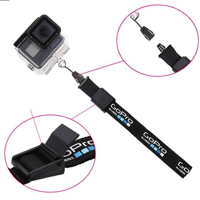 المعصم الحبل اليد حزام تسليم حزام آمن حبل كاميرا مكافحة خسر الحبل ل GoPro بطل 6 5 4 3 + SJCAM SJ4000 SJ5000 SJ6 SJ7 يي