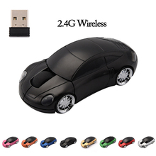 Hot Sale Mini 2.4G Car Styling Mini Wireless Mouse With USB Interface Receiver Mute Air Mause for Laptops Desktop PC Gamer