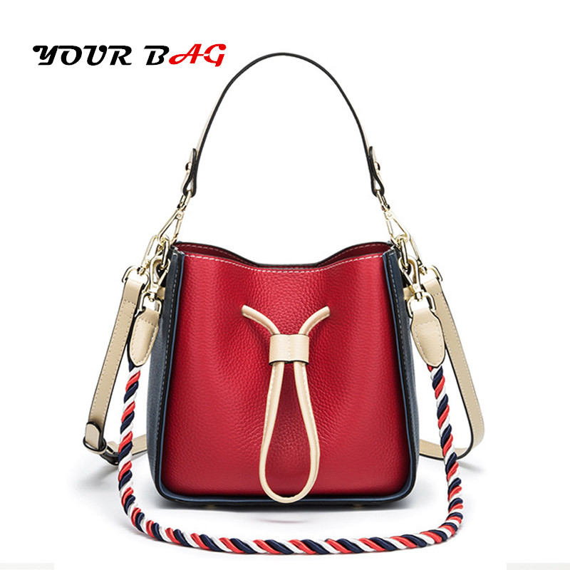 цены UBAG bags for women 2018 luxury ladies handbags designer clutch shoulder Bucket bag PVC leather drawstring bag Hand-rope sling