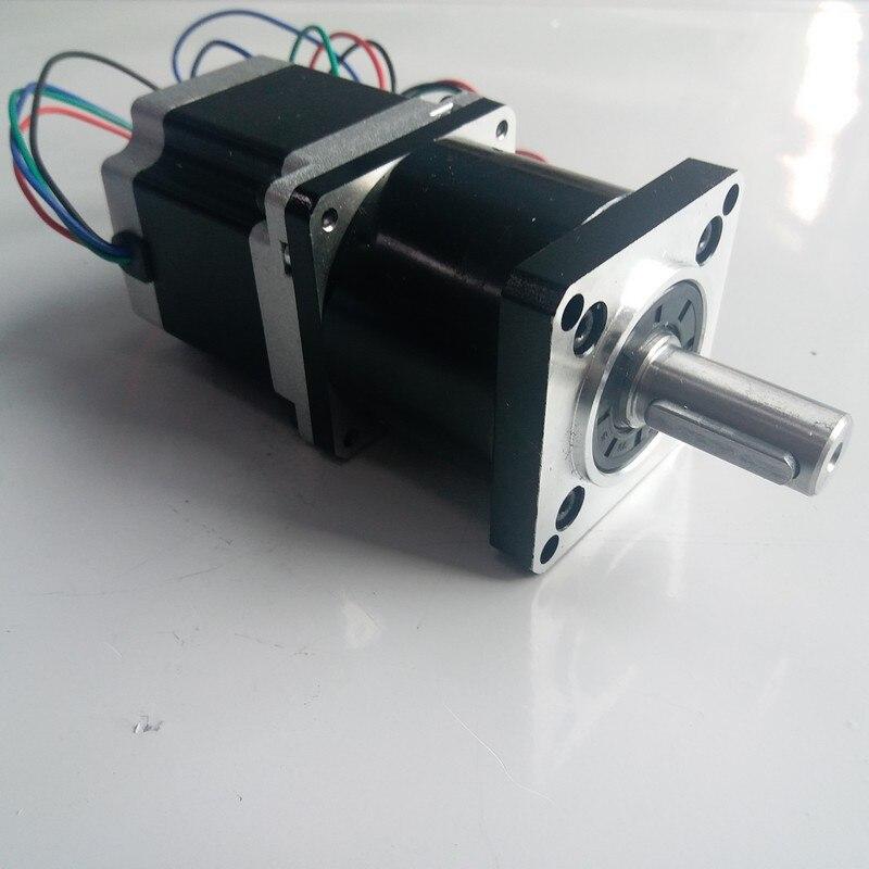 Rapporto di 5:1 NEMA23 motore passo a passo di 3NM 430Oz-in lunghezza 112mm 4.2A 4 Fili con Planetary gearbox reducer Motore Kit per CNCRapporto di 5:1 NEMA23 motore passo a passo di 3NM 430Oz-in lunghezza 112mm 4.2A 4 Fili con Planetary gearbox reducer Motore Kit per CNC