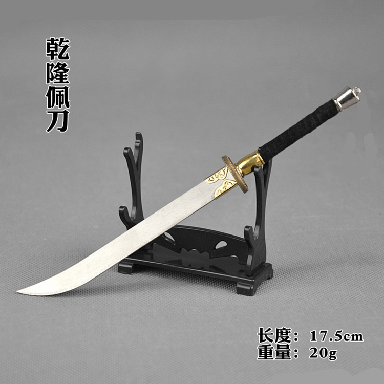 Ancient 1/6 Soldier Weapon Model Alloy Cold Steel Straight Handle Mini Prop Sword Walking Sabre Mould 4 Style Select