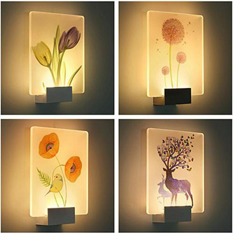 3d Night Light Applique Murale Luminaire Led Wall Lamp