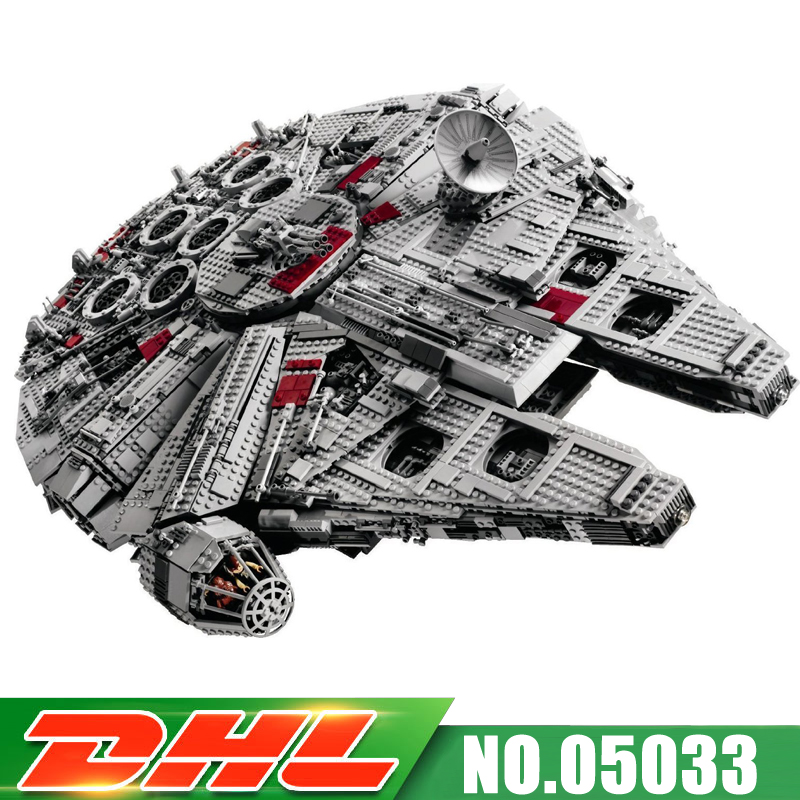 Fit For 10179 LEPIN 05033 5265pcs UCS Ultimate Collector's Millennium Falcon Model Kits Building Blocks Bricks Gift Toy lepin 05033 5265pcs star ultimate kits collector s millennium toys falcon model building blocks bricks kids war toys gifts 10179