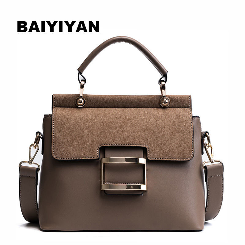 New High Quality Women Handbag Metal Hasp Female Shoulder Bag Fashion Ladies Messenger Bag Tote Briefcase
