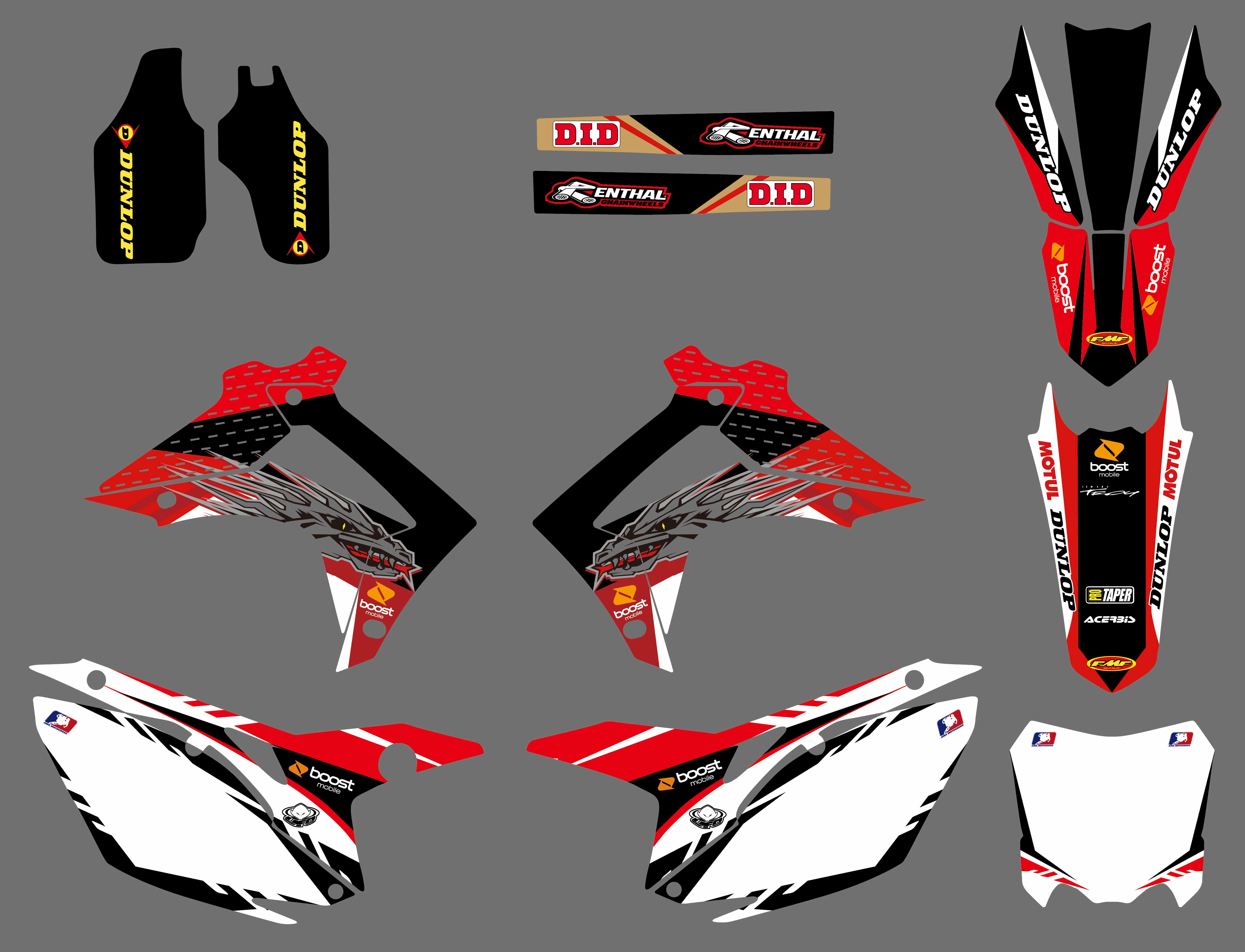 Motorcycle Team Graphics Decals STICKERS For Honda CRF450R CRF450 2013-2016  CRF250R CRF250 2014 2015 2016 2017 2018 CRF 250 450