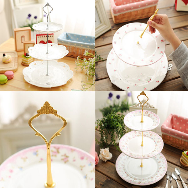 New 1set 3 or 2 Tier Cake Plate Stand Handle Fitting Hardware Rod Plate Stand & New 1set 3 or 2 Tier Cake Plate Stand Handle Fitting Hardware Rod ...