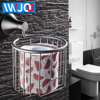 Toilet Paper Holder Decorative Wall Mounted Paper Towel Holder Stainless Steel Bathroom Roll Paper Holder Basket Tissue Box