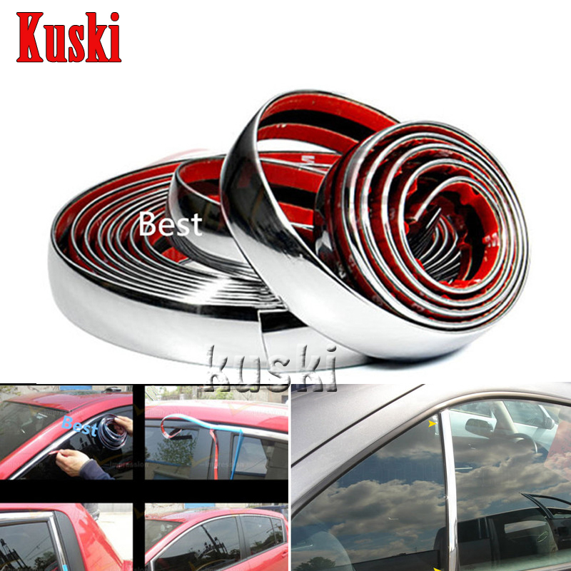 Car Styling Chrome Decoration Sticker 6 8 10 15 20 22 25 30 Mm For Audi A3 A4 B6 B8 B7 B5 A6 C5 C6 Q5 A5 Q7 TT A1 S3 S4 S5 S6 S8