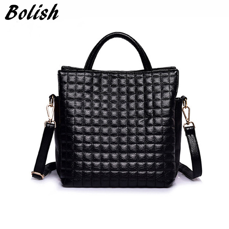 European and American Style Women Bag High Quality Soft PU Leather Top-handle Ba