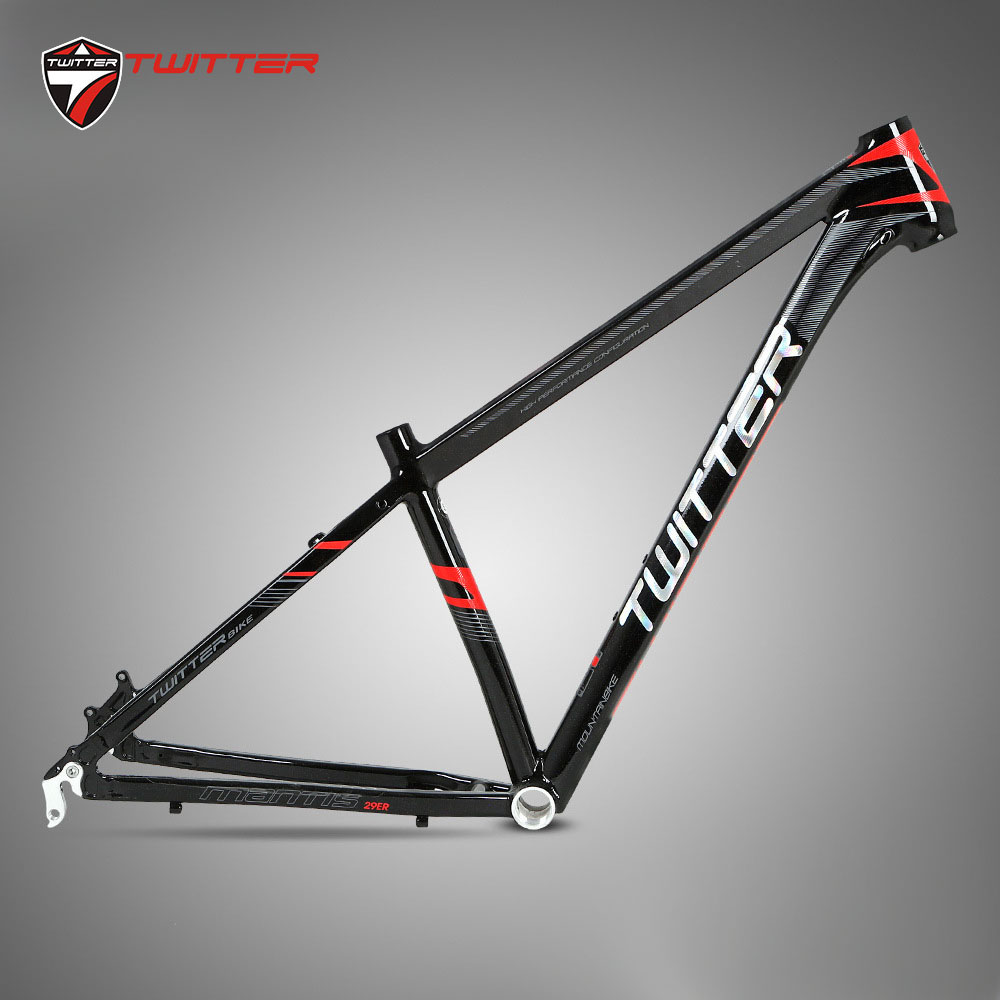 Twitter MTB Frame 29er Aluminum Mantis2.0 Gravel Frame Internal Cable Routing XC Off-Road Bicycle Mountain Bike Aero Frame