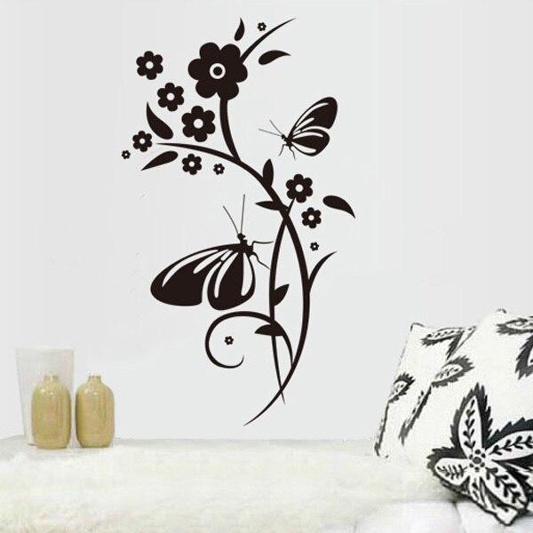 cartoon frozen wall decals,butterfly tree wall sticker,european