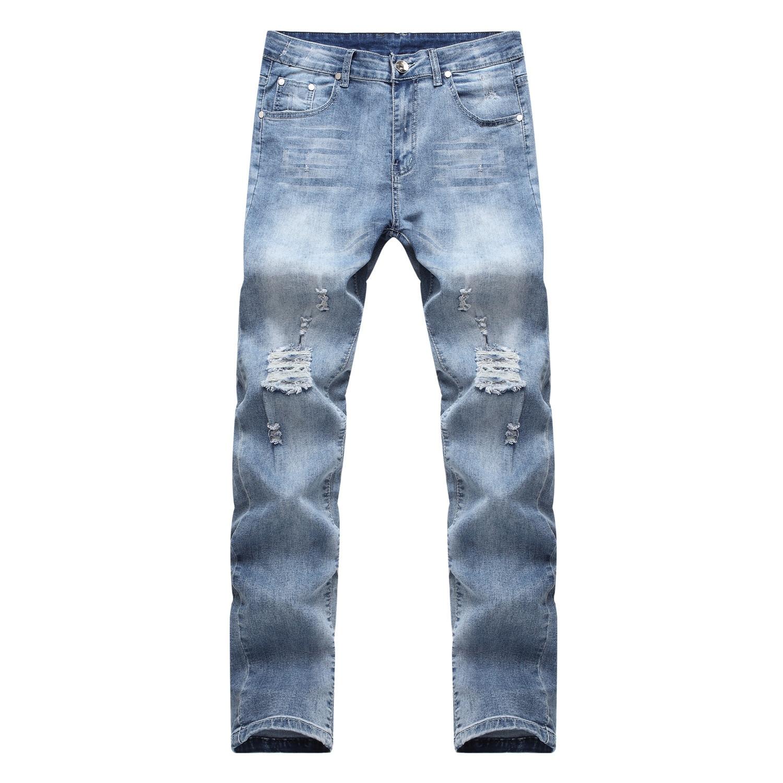 fashion trousers Beggar Cropped Pants Man 2019 Ripped holes   Jeans   Men Patchwork Outwear Cowboys Demin Pants Male hip-hop   jean