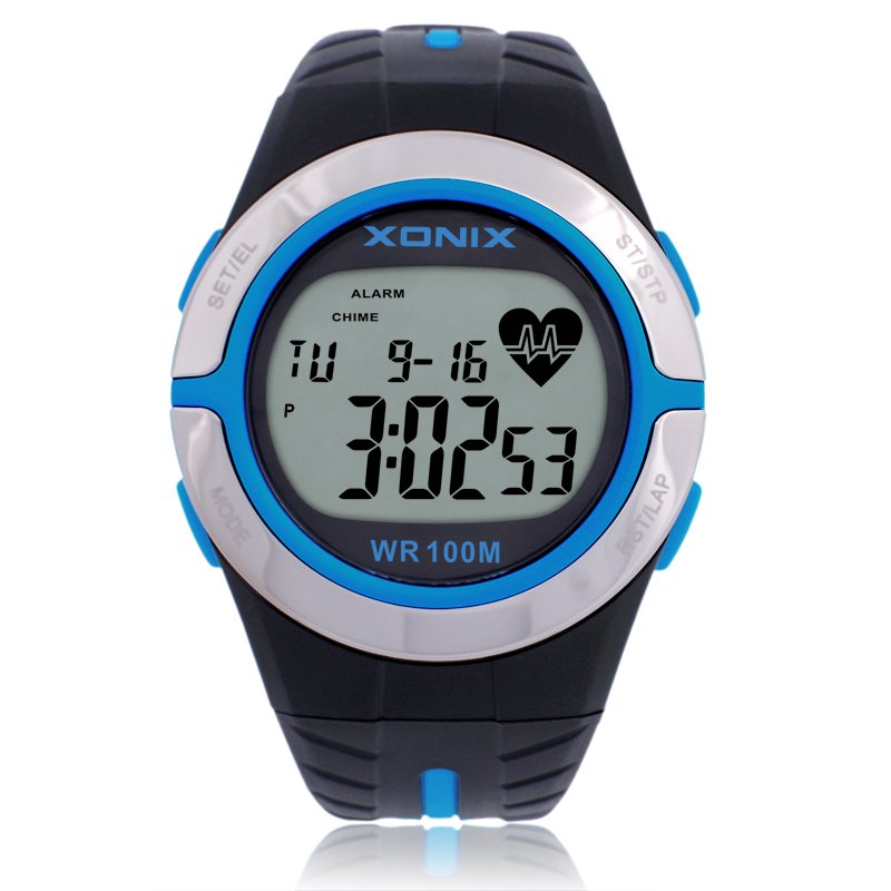 Heart Rate Monitor Watches ,  New 2016 women Rubber strap diving Swimming Cycling watches , 100M Waterproof Sports Watches Gifts garmin hrm tri heart rate transmitter and strap for swimming running cycling