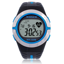 Heart Rate Monitor Watches , New 2016 women Rubber strap diving Swimming Cycling watches , 100M Waterproof Sports Watches Gifts(China (Mainland))