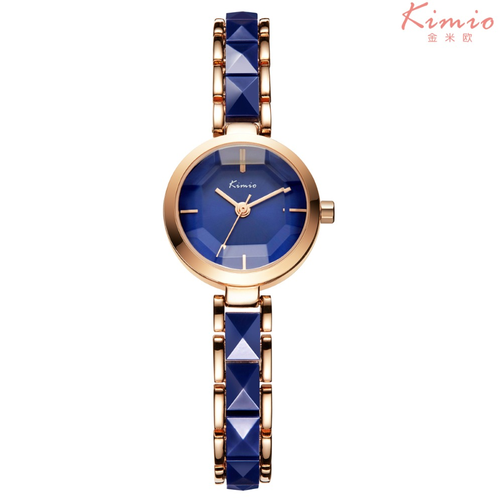 Reloj Mujer 2016 New Kimio Brand Diamond Clock Women Dress Ceramic Women Girl Watch Quartz Bracelet