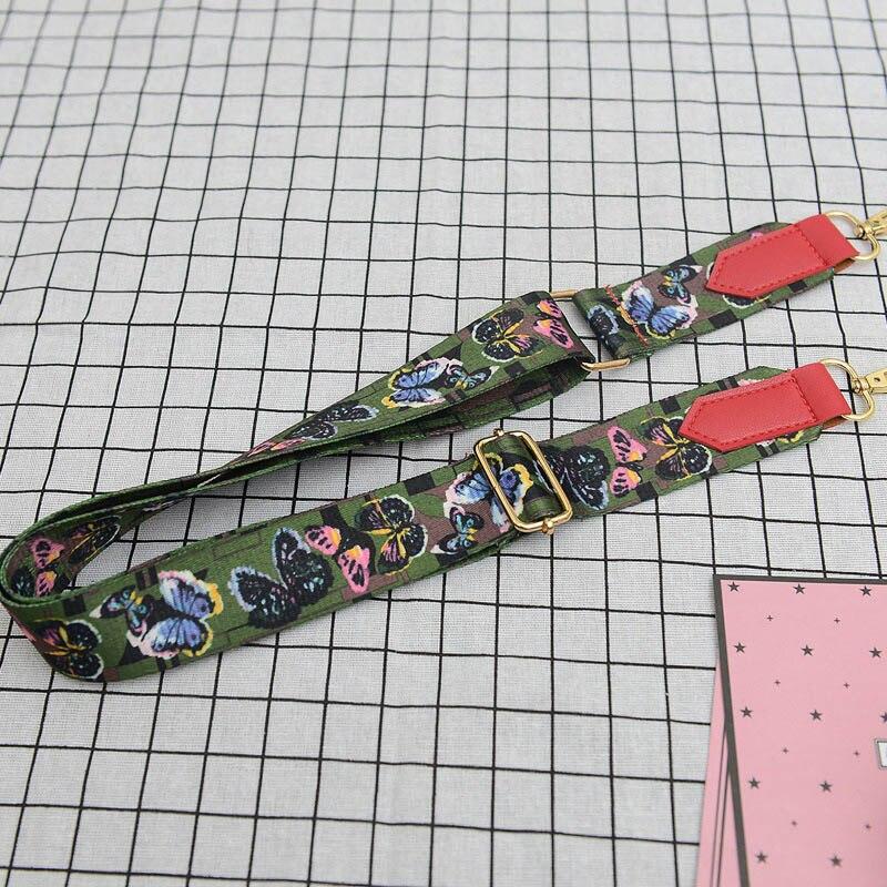 Fashion Women Colorful Wide Shoulder Strap Cotton Metal Hasp Adjustable Lady Girls Bag Belt For Messenger Bags Handbag L