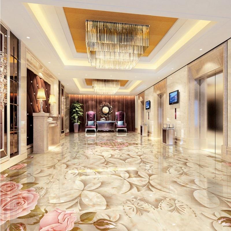 US $123.38 38% di SCONTO|Trasporto Libero su piastrelle di Marmo parquet  murale 3D stereo pavimento camera da letto living room hotel autoadesiva ...