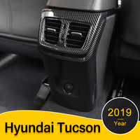 ABS Car Rear Armrest Box Panel Cover Children Anti Kick Protective Case For Hyundai Tucson 2015 2016 2017 2018 2019 Accessories