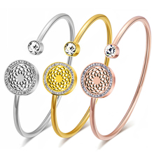 hot deal buy fashion twist femme cuff bracelets bangles for women female stainless steel bangles women charm jewelry girls luxury