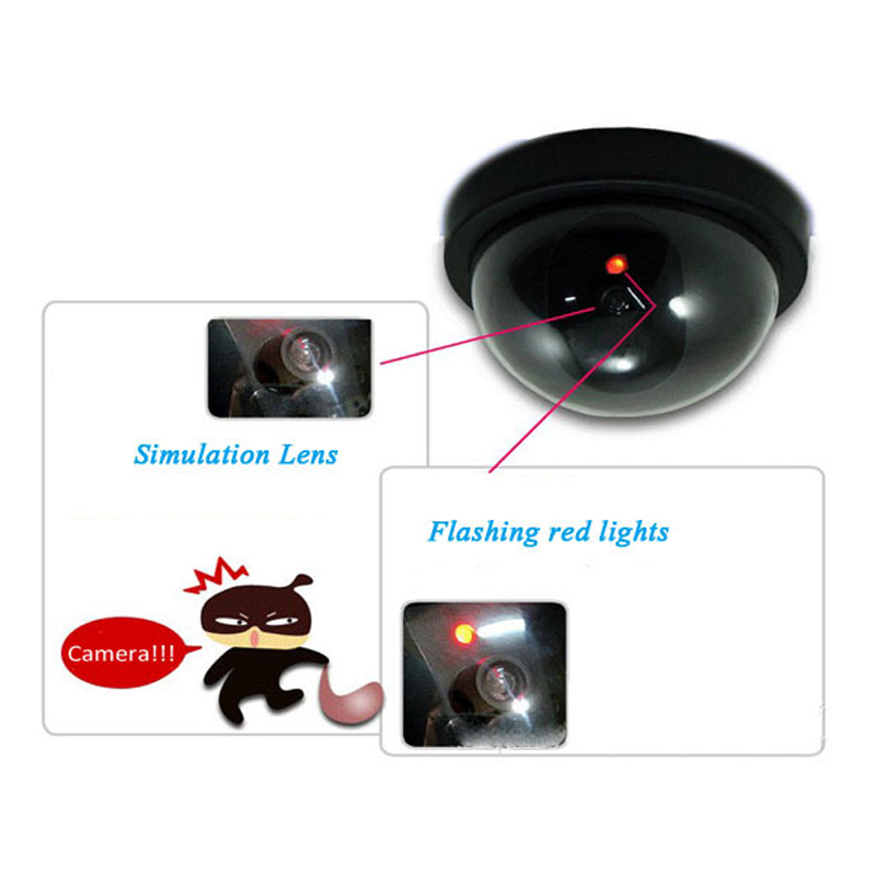 Dome Dummy Security Cctv Cameras Flash Blinking Red Led Fake Camera Security Simulated Video Surveillance Deter Robbery !! Video Surveillance