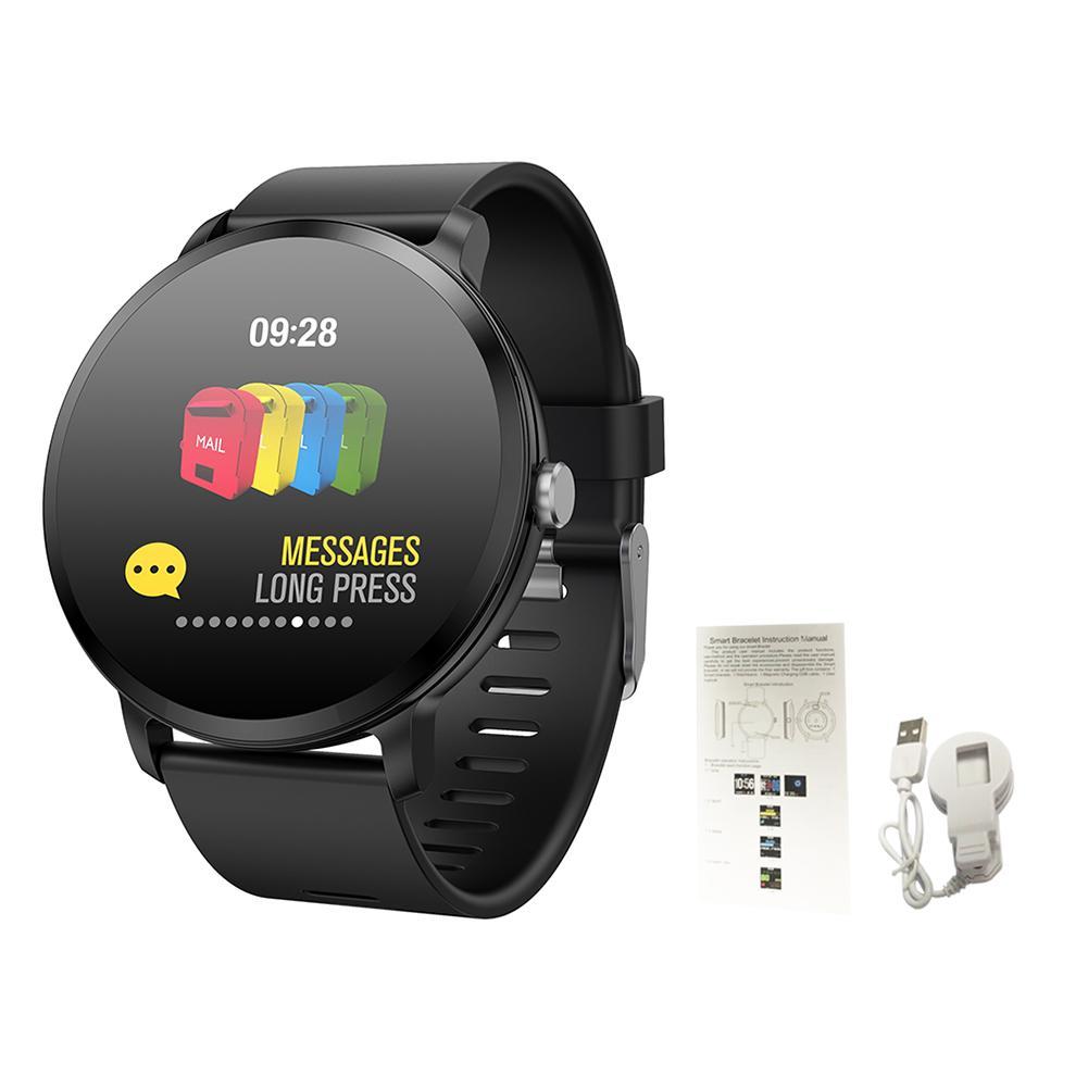V11 Bracelet intelligent avec lumière respiratoire sport enregistrement écran s'allumer en soulevant la main fréquence cardiaque surveillance de la santé