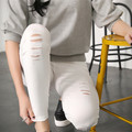 2016 Classic Women Hole Pants Cotton Elastic Tight Trousers Female Fashion Sexy Slim Summer And All Seasons pantalon femme 001