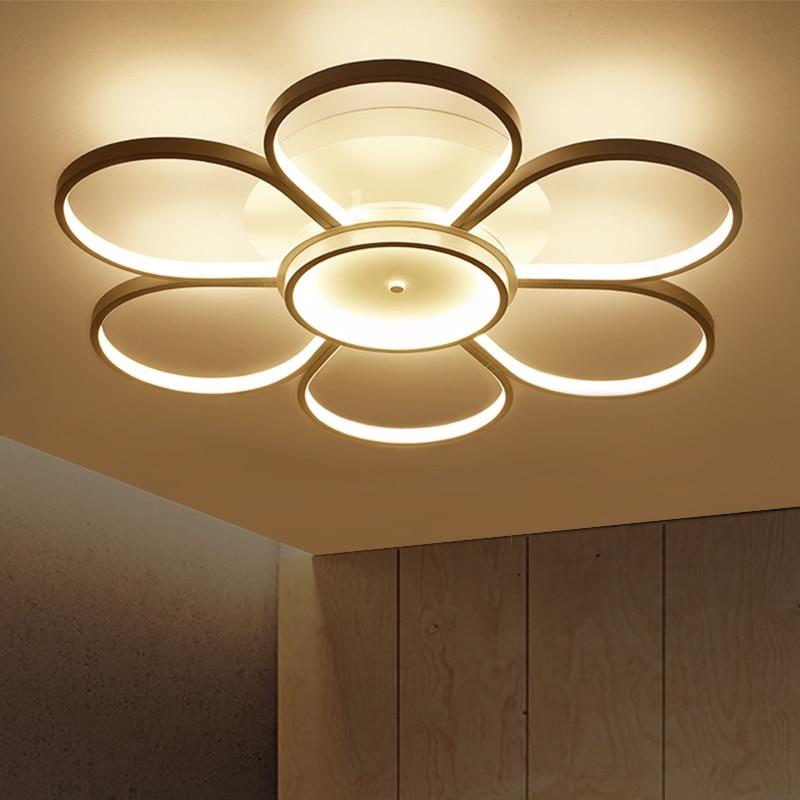 2018 nuevo dormitorio luces de techo led para 10-15square metros restaurante interior luminarias para sala control remoto modern