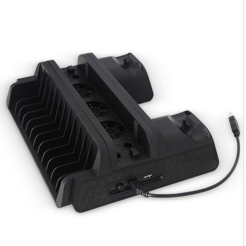 Vertical multi-functional Game Console Cooling pad Cooling dock Stand for Sony Playstation 4 PS4 Slim PS4 Pro Console