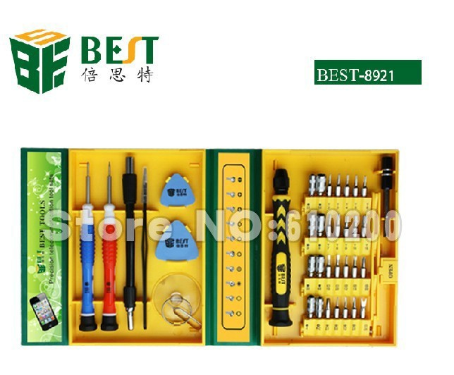 Free shipping BEST 8921 2013 new 38 in1 Multi-purpose precision Magnetic Screwdriver Set PC Notebook phone iphone4 Chaiji tools