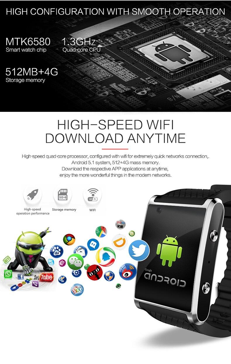 bac1d39006b Fashion New Android 5.1 Smartwatch bluetooth watch sportwatch with front  camera support GPS Nano SIM Card WIFI. -Eg1 01 -Eg1 02 -Eg1 03 -Eg1 04 ...