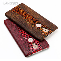 LANGSIDI Brand Phone Case Ostrich Foot Grain Half Wrapped Phone Case For Gionee M6 Plus Phone
