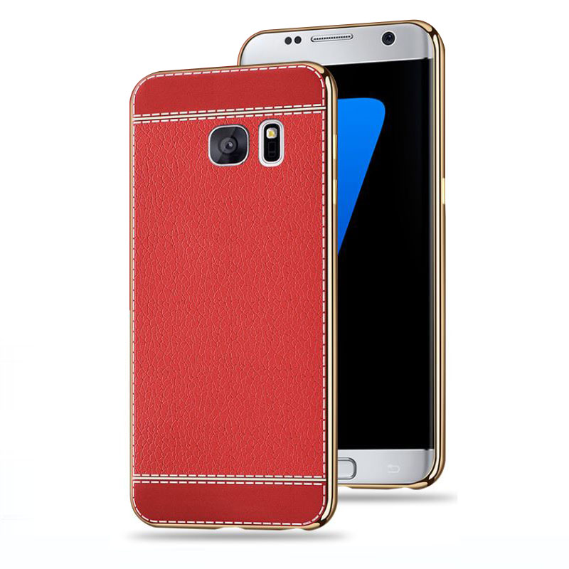 SemgCeKen luxury original coque cover case for samsung galaxy s6 s6edge s 6 edge tpu soft leather silicone silicon phone back in Fitted Cases from Cellphones Telecommunications